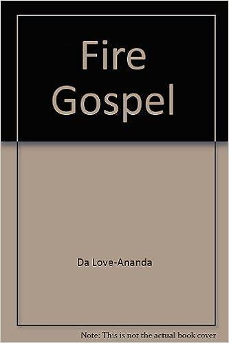 Book Fire Gospel by Adi Da Samraj (1982-12-02)