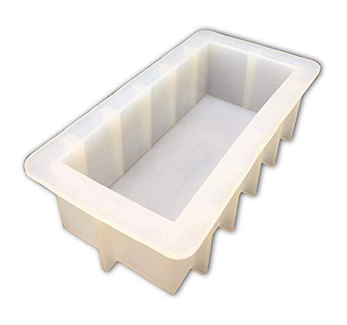 Mose Cafolo Loaf Soap Silicone Mold Rectangular White Mould 40-42oz DIY Handmade Swirl Making Tool ()