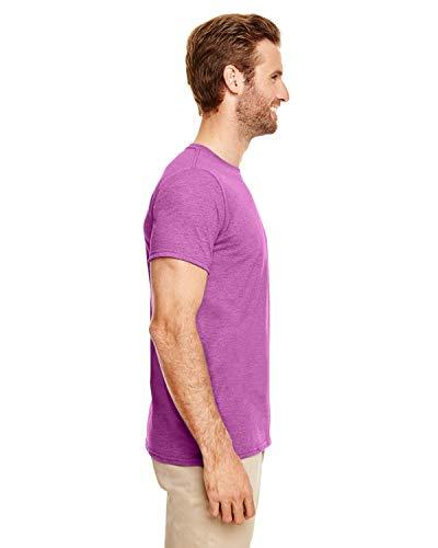 Orchid Gildan Courtes style™ Homme Pour shirt Radiant Soft À T Manches Heather pIPOxq