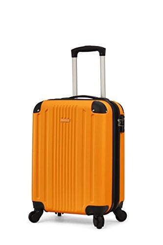 TravelCross Milano 20'' Carry-On Lightweight Hardshell Spinner Luggage (Orange 20 Bag)