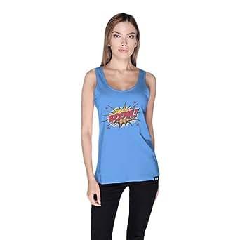 Cero Boom Retro Tank Top For Women - S, Blue