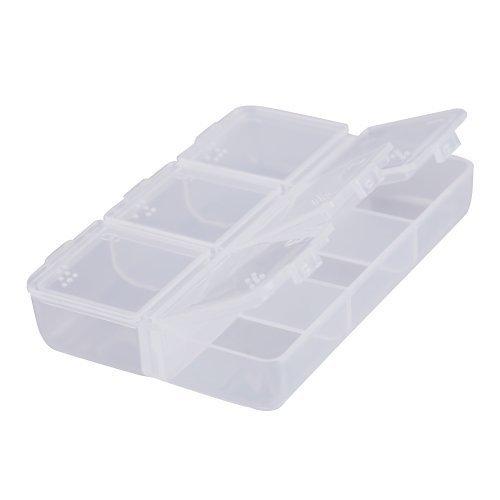 (Whitelotous 6 Compartments Portable Plastic Pocket Pills/Vitamins Organizer Box Divided Pill Case for Medicine Drug Jewelry)