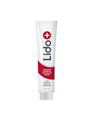 (LidoPlus Lidocaine Pain Relief Cream,Numbing Cream,Rub on Cream,Topical Anesthetic,Topical Analgesic)
