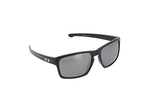 Oakley Men's Sliver OO9262-09 Polarized Iridium Rectangular Sunglasses, Polished Black, 57 mm