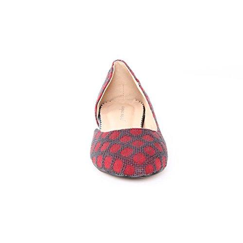 Damen Ballerinas Flats Slippers Shoes Multicolor - MULTICOLOURED ny273Bqlt9