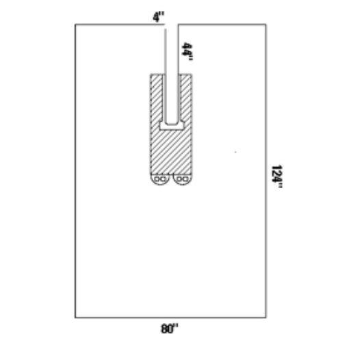 Halyard Health 89079 Universal U-Drapes, SMS Fabric, 80'' x 124'' (Pack of 16)