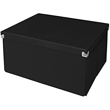 Samsill PNS06LSBK Pop nu0027 Store Decorative Storage Box with Lid - Collapsible and Stackable -  sc 1 st  Amazon.com & Amazon.com: Samsill PNS06LSBK Pop nu0027 Store Decorative Storage Box ...