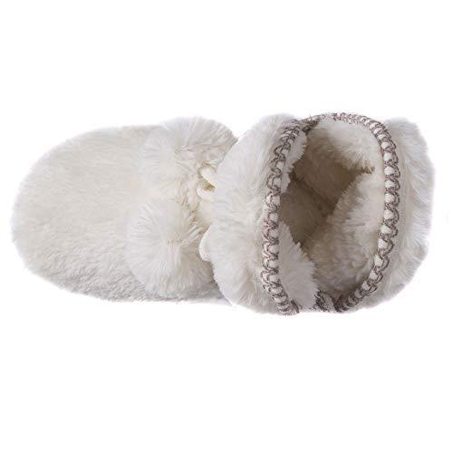 Amira Women's Fur LUKS Faux MUK Ivory Slippers UfnqpwBxC