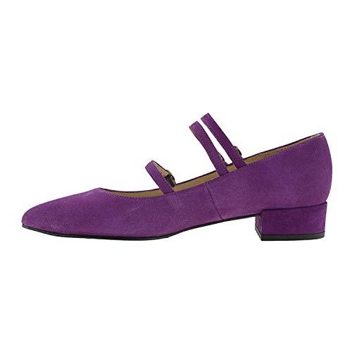 Merceditas Zapatos Piel Piel Morado Merceditas Morado Zapatos Piel Zapatos Morado Merceditas XxxHS8Pw