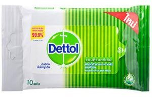 Dettol Antibacterial Wet Wipe 10sheets (Pack of 3)