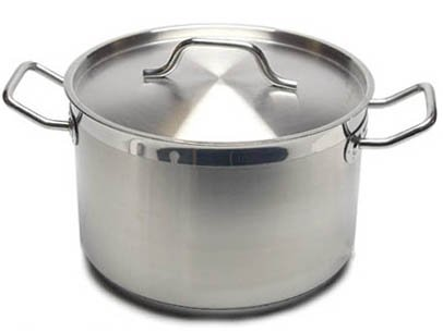 New Professional Commercial Grade 12 QT (Quart) Heavy-Gauge Stainless Steel Stock Pot, 3-Ply Clad Base, Induction Ready, With Lid Cover NSF Certified Item by Update International