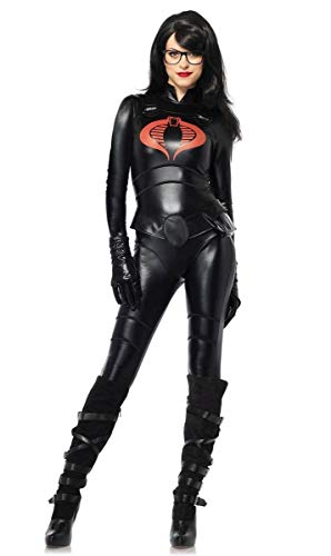 (Leg Avenue Women's GI Joe 4 Piece Baroness Costume, Black,)