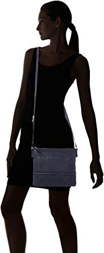 GERRY WEBER Salamanca Shoulderbag Mvz - Bolso de hombro Mujer Azul (Dark Blue)