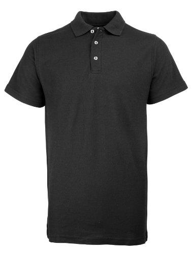 RTY Workwear Arbeitskleidung Heavyweight polo Schwarz 6XL