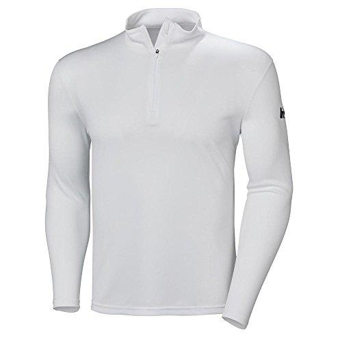 Helly Hansen Men's Moisture Wicking Tech 1/2 Zip Top, White, Large ()
