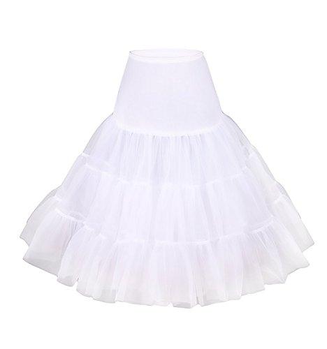 Ruffle Petticoat (Modeway Retro Rockabilly Crinolines Tutu Skirt petticoats)