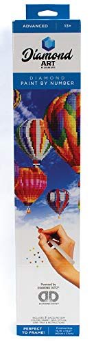 Leisure Arts - Diamond Art Sparkle Art Diamond Paint by Number Hot Air Balloons Kit – 5D Pixel Painting DIY Arts and Crafts for Kids Canvas Wall Decor from LEISURE ARTS