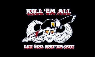 Sportsworld Army Kill'Em All LET GOD SORT'EM Out Flag
