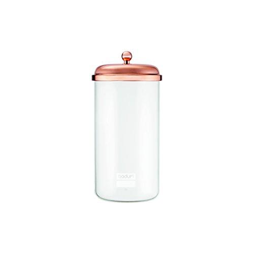 Bodum 11714-18S Chambord Storage Jar, Extra Large, Copper Bodum Glass Storage Jars