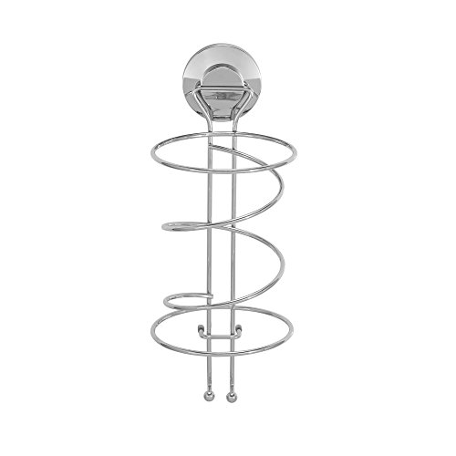 outlet Everloc 79204 Push N' LOC Suction Cup Hair Dryer Holder, Chrome