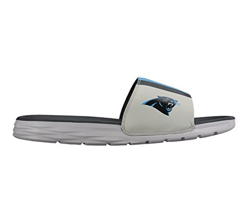 cb70748877bbe Galleon - Nike Benassi Solarsoft NFL Panthers Medium Silver Tidal Blue  831256-003 (8)