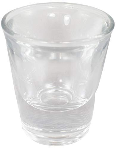Sunrise Classic 1 oz Whiskey/Vodka/Tequila/Shot Glass, with Heavy Base, Clear Glass. (48)