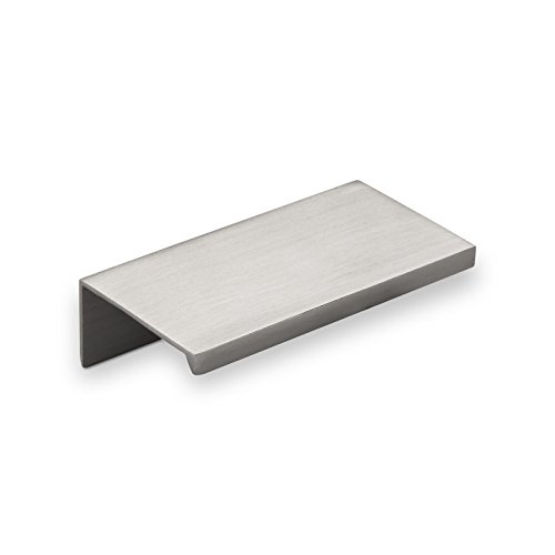 SO-TECH® Alu Griffleiste SEARL 70 mm Edelstahloptik Profilgriff Schubladengriff Küchengriff