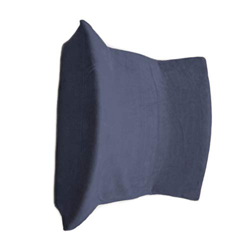 ComfortFinds Lumbar Support Back Cushion - Premium Balanced Soft & Firm Posture Support - Designed for Lower Back Pain Relief - Ideal for Wheelchair, Office Chair, Car Seat, Etc (2 Pack, Navy)