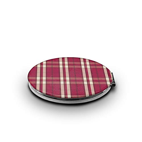 - TRENDCAT Double Sided Indiana University Introduces Official Plaid Makeup Mirror - Compact Folding Vanity Magnifying and Travel Mirror