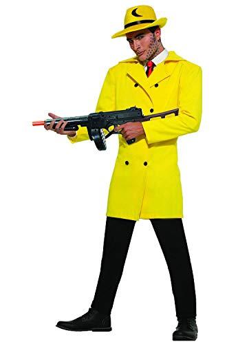 Pop Art Gangster Yellow Suit Blazer Jacket and Fedora Hat Mens Adult -