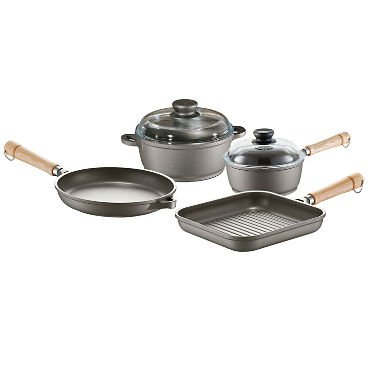 6-Piece Tradition Cookware Pan Set with Non-Stick Coating ()