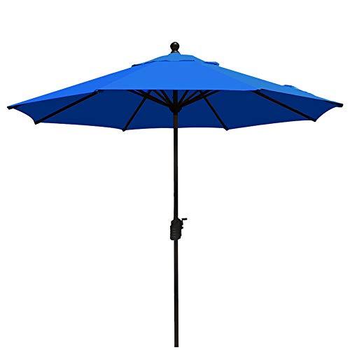 EliteShade Sunbrella 9Ft Market Umbrella Patio Outdoor Table Umbrella Ventilation,Bonus Weatherproof Cover (Sunbrella Royal (Blue Sunbrella)