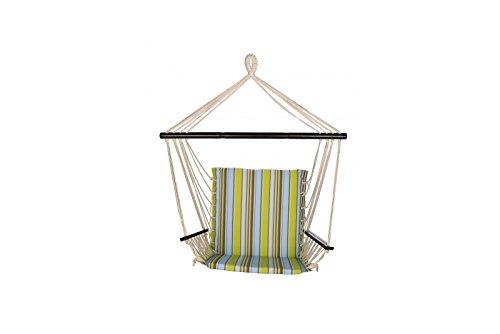 Ben&Jonah Patio Bliss Metro Chair- Montauk Stripe - Blue & Green Stripe ()