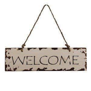 Vintage Home Cartel para Puerta Welcome (Bienvenidos ...