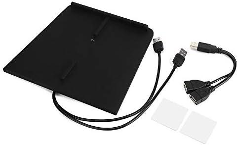 Gorgeriワイヤレス充電パッド、車内センターコンソールワイヤレスデュアルUSB高速電話充電器充電パッド
