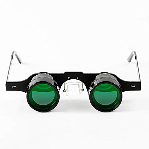 10 X Fishing Binocular Glasses,Professional Hands Free Magnification Sports,Concerts,Theater,Opera,TV Magnifiers (Color : Green)
