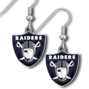 NFL Dangling Earrings - Oakland Raiders Logo