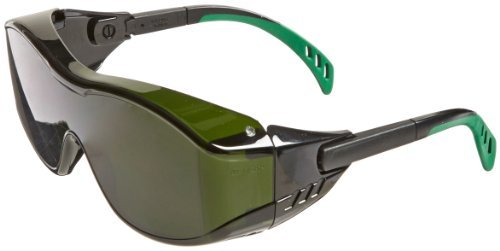 Gateway Safety 6966 Cover2 Safety Glasses, IR Filter Shade 5.0 Lens, Black Temple Color: IR Filter Shade 5.0 Lens, Model: 6966, Tools & Hardware store