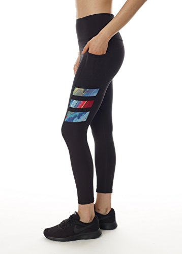 Easy Access Back Pocket - X by Gottex Workout Leggings | Unique, Printed & Stylish Activewear with Easy Access Pocket | 88% Polyester & 12% Spandax Fabric | Stretchable, Breathable & Dry Fit | Full Length & High Waist |Chintz