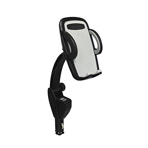 USB Port Lighter Charger Mount Holder for Smart Phones (Black) - 9