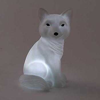 KathShop Led Creative Night Lamp Rabbit Fox Owl Lights Silicone Dolls Nightlight Baby Bedroom Table Lamp