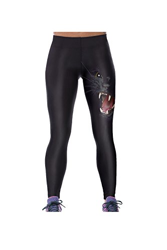 Sport élastique extensible animaux impression Leggings Tight femmes