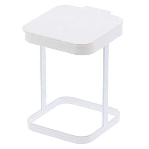Originals Metal Countertop Trash Can Garbage Bag Holder for Home Kitchen (White)