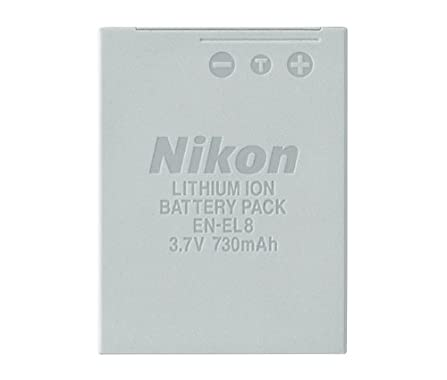 Nikon EN-EL8 Rechargeable Lithium-ion Battery for P1, P2, S1 & S3 Digital Cameras - Retail Packaging does