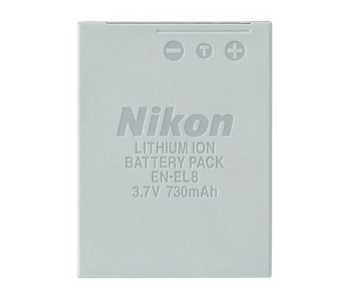 Nikon EN-EL8 Rechargeable Lithium-ion Battery for P1, P2, S1 & S3 Digital Cameras - Retail Packaging