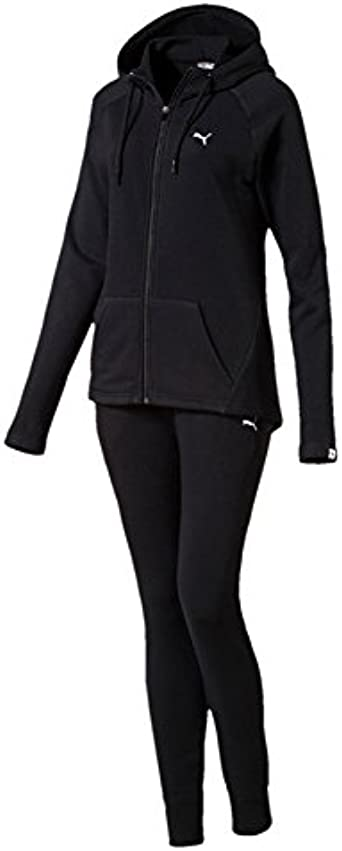 Puma Clean Sweat Chándal para mujer, Cotton Black: Amazon.es ...