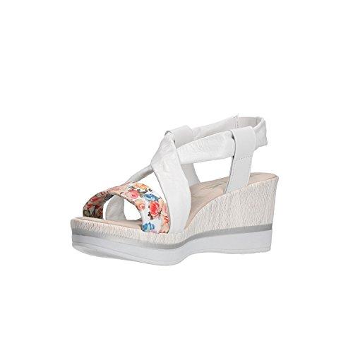 Donna Scarpe Melluso 037067 Sandali Bianco Walk Zeppa twIvZIq0