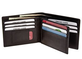 Rogue Wallet WALBIFOLDBLK11 Rectangular With 10 Credit Card Slots, 1 Id Slot & 1 Micro Slot made in Maine