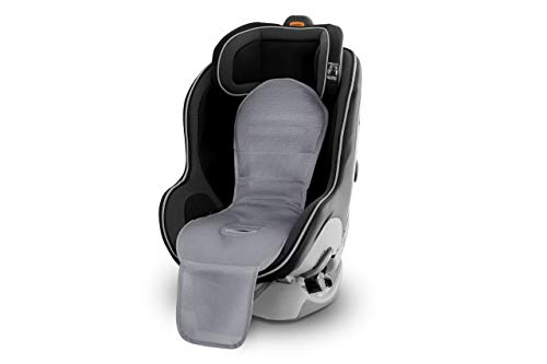 BreezyPad Baby Car Seat Cooling Pad Liner with Fan (Gray) by Breezy Kids (Front Facing Car Seat Only)