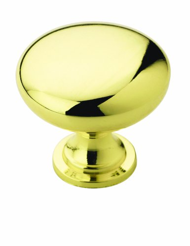 Amerock BP53005-3 Metal Finishes Knob Polished Brass, 1-1/4-Inch Diameter